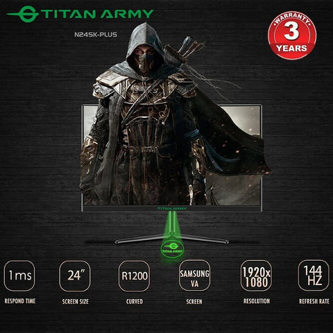 TITAN ARMY 24 CURVED R1200 144HZ 1MS GAMING MONITOR (N24SK-PLUS)