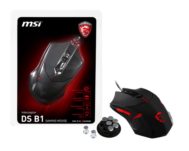 MSI INTERCEPTOR DS B1 Gaming Mouse