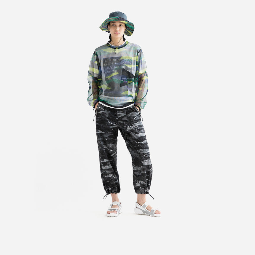 and wander Printed Vent pants
