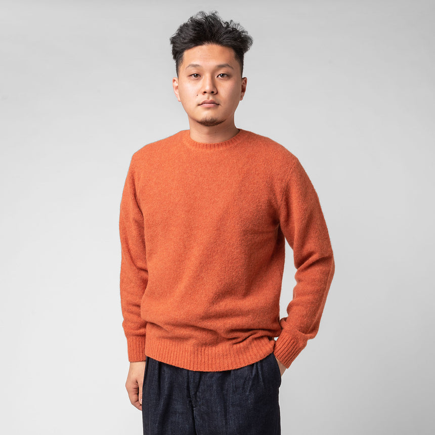 Beams Cashmere & Silk Crewneck Sweater