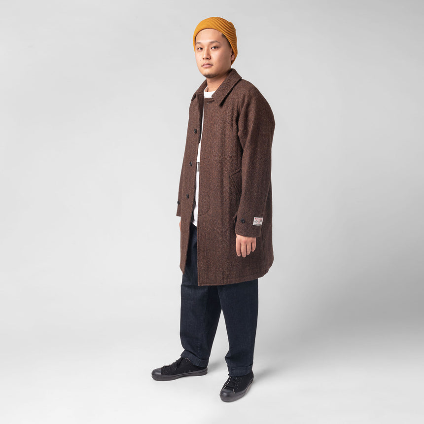 Beams plus Balcolor coat Harris tweed