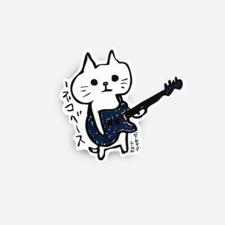 Cat stickers Neko guitar