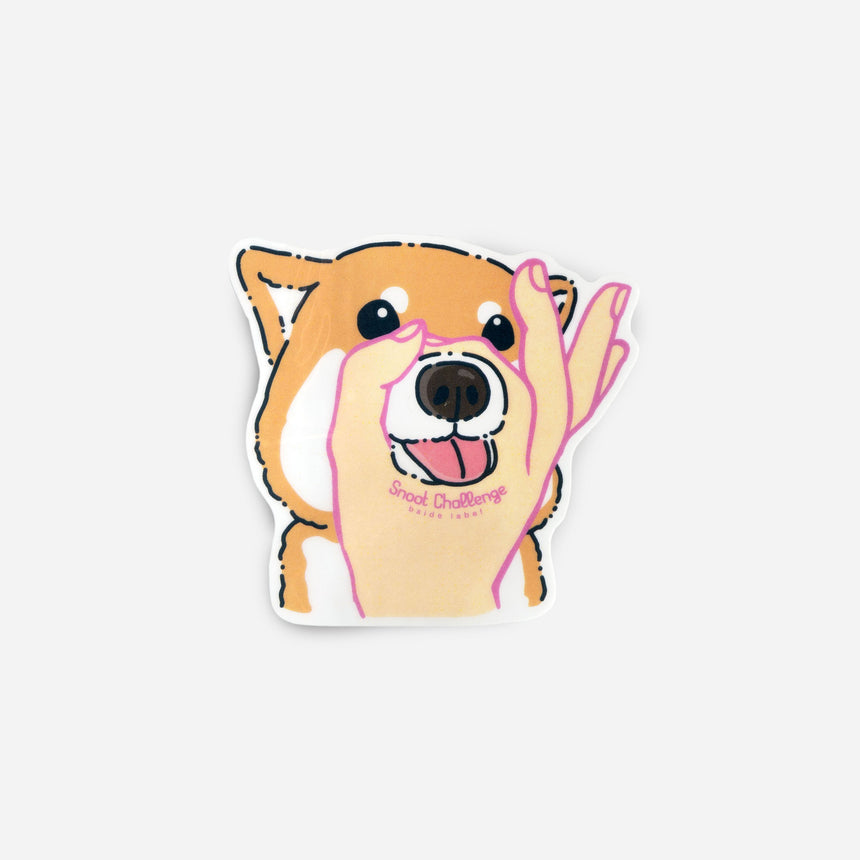 Dog stickers Shiba snoot challange