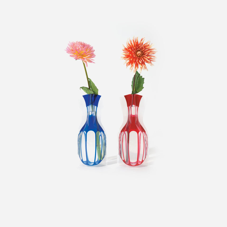 D-Bros Flower Vase Blu & Red