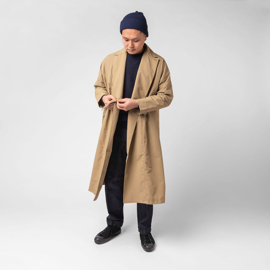 F/ce Recycle wrap coat beige