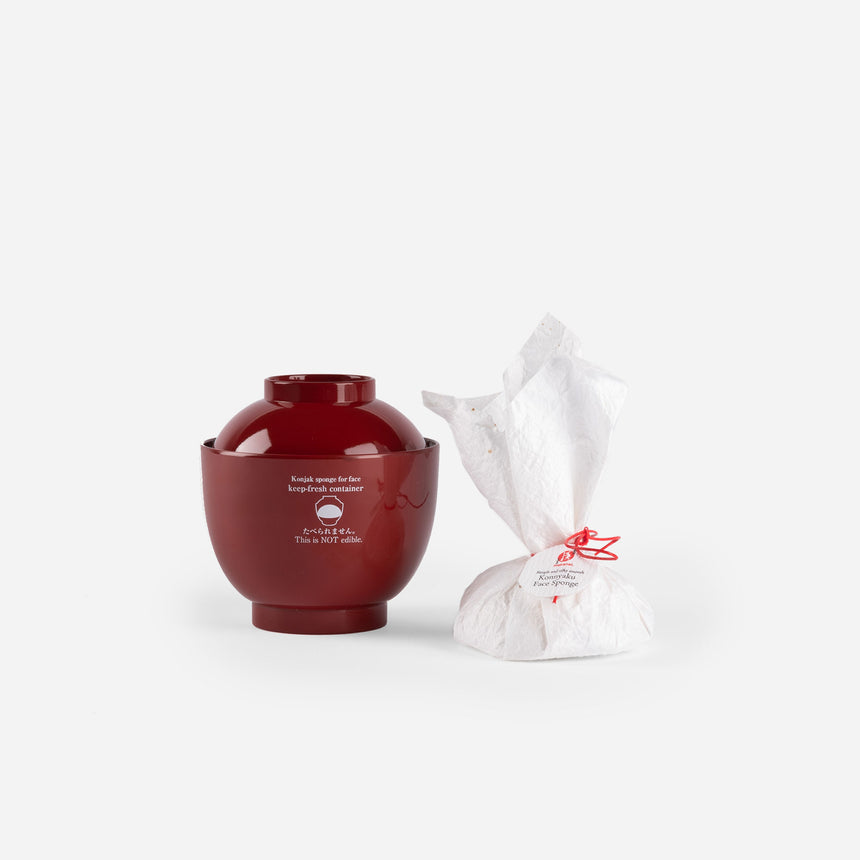Makanai Traditional Set: Konjac Sponge + Bowl - TENOHA e-shop