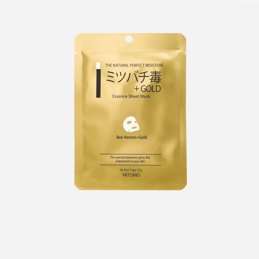 Mitomo Gold and Bee Venom Essence Sheet Mask