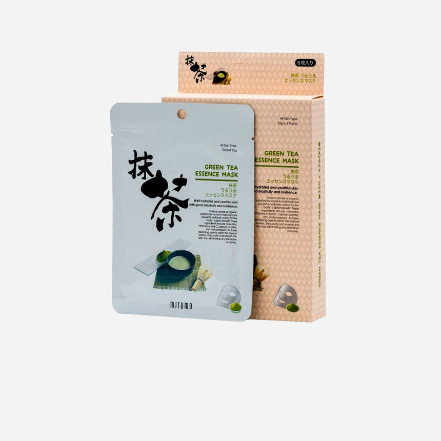 Mitomo Green Tea Essence Sheet Mask