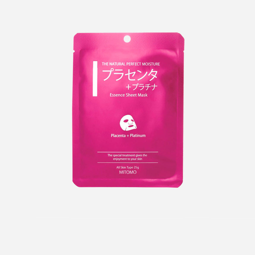 Mitomo Platinum and Placenta Essence Sheet Mask