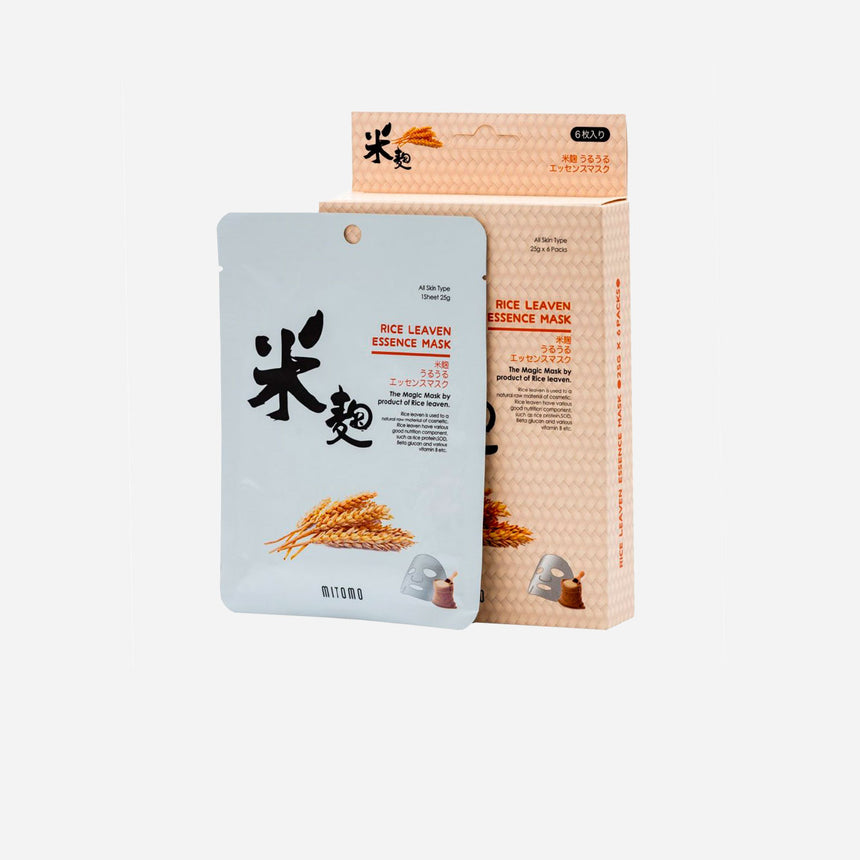 Mitomo Rice Leaven Essence Sheet Mask