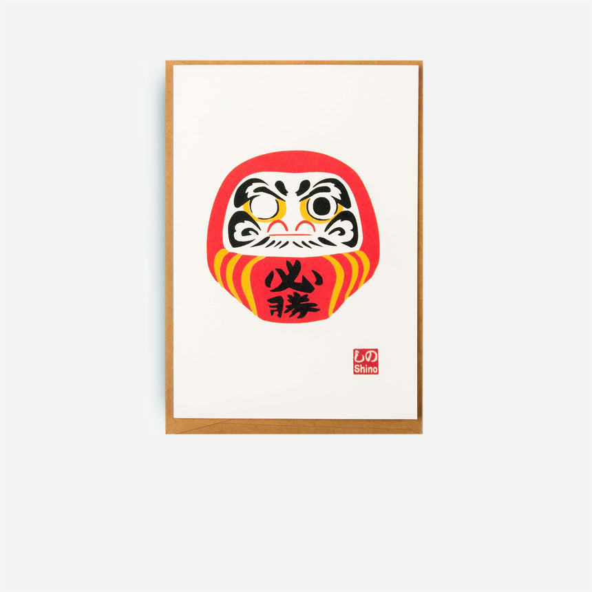 Japanese Greeting cards Daruma