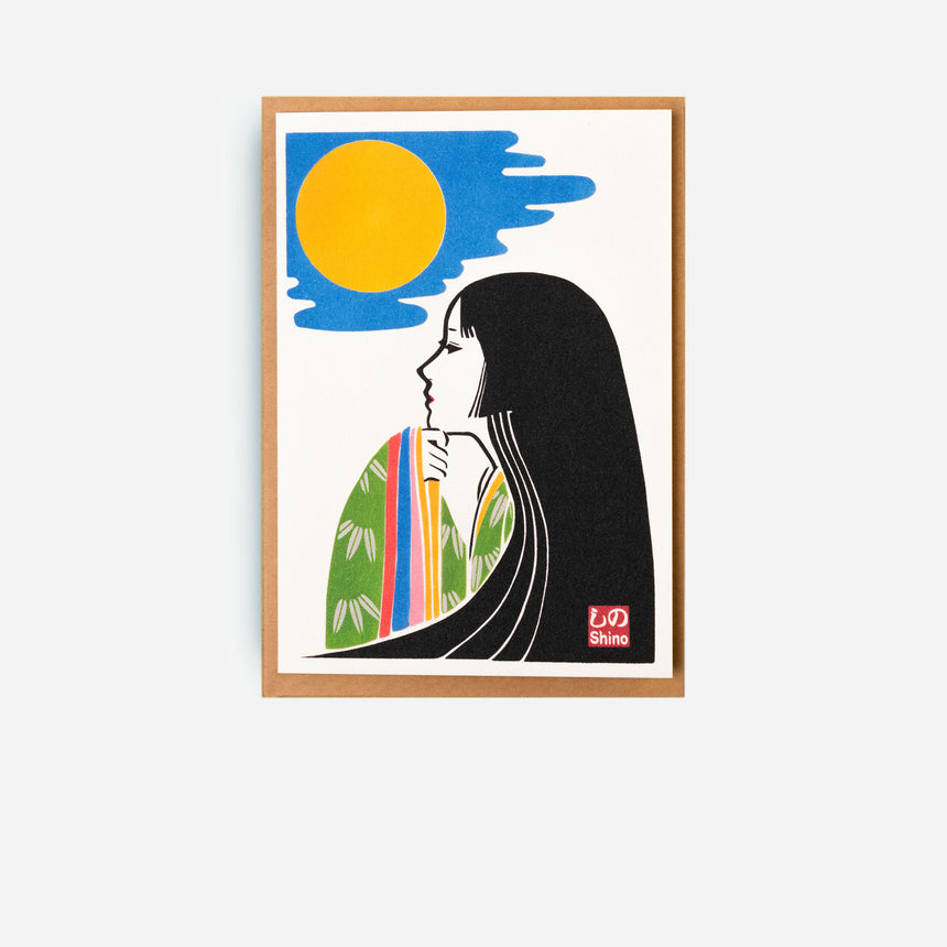 Japanese Greeting cards Girl