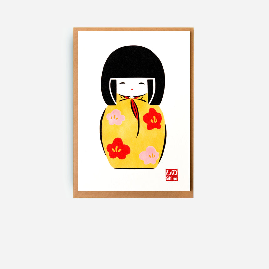 Japanese Greeting cards Kokeshi