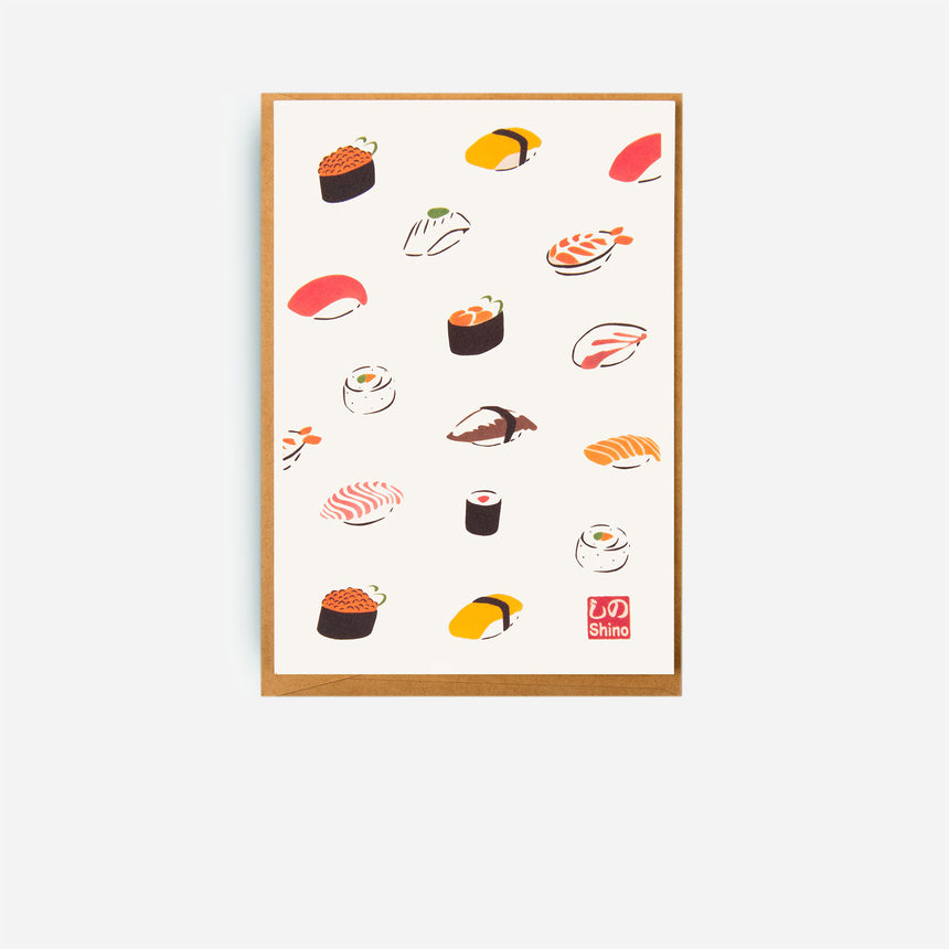 Japanese Greeting cards Sushi