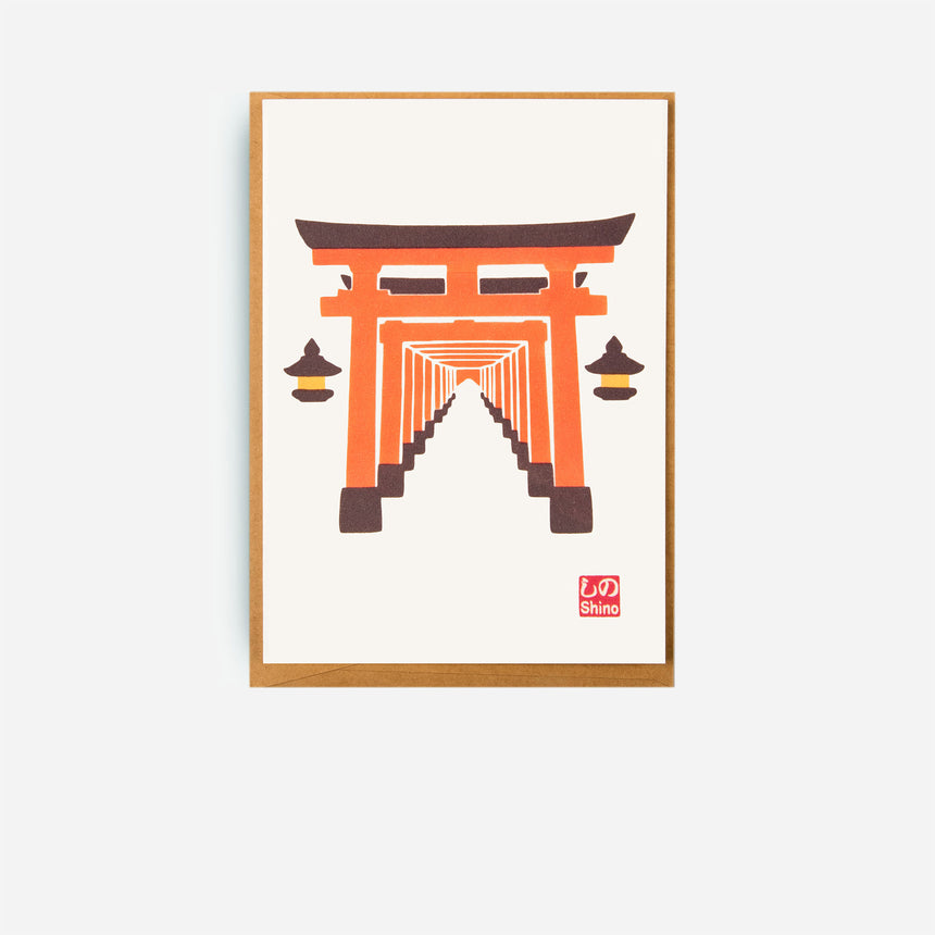 Japanese Greeting cards Torii