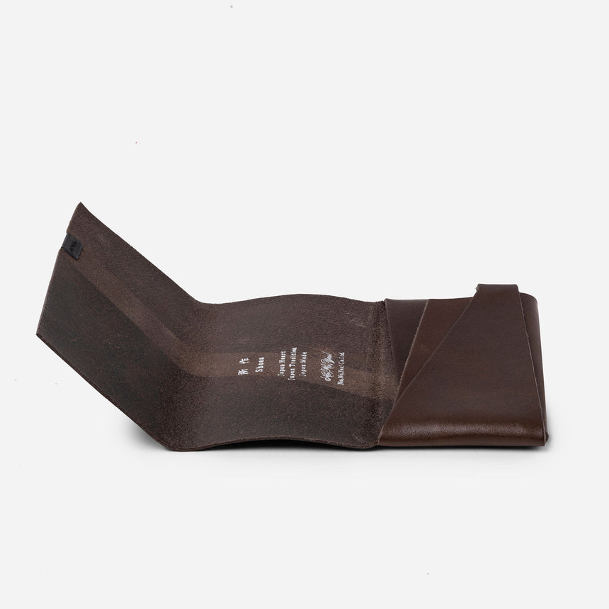 Shosa Card Case brown