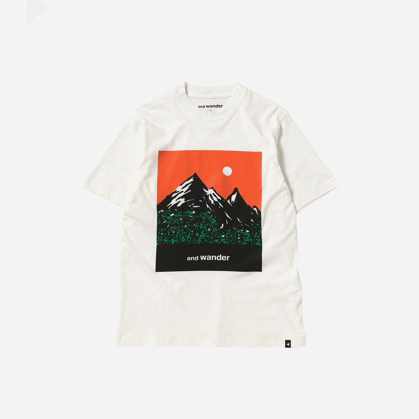 and wander Mountain & Moon t-shirt