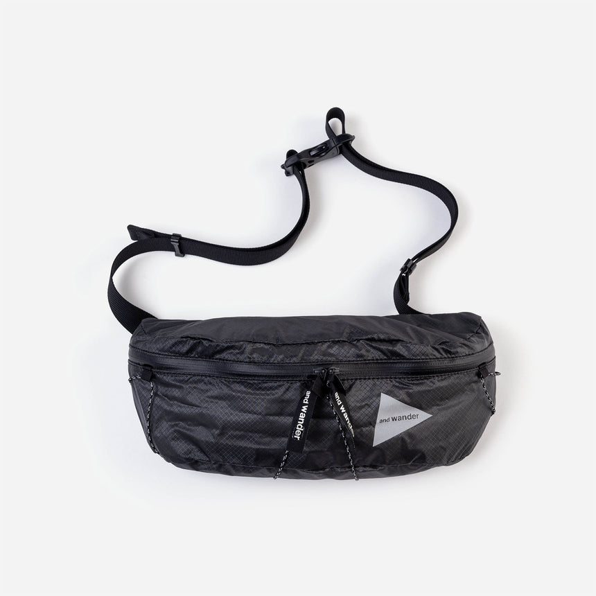 and wander Sil Waist Bag charcoal