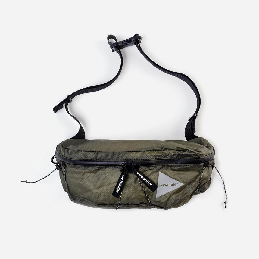 and wander Sil Waist Bag khaki