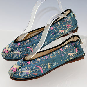 1920s Chinese Silk Embroidered Shoes/Slippers