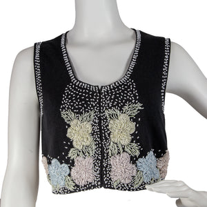 50s Beaded Sweater Vest
