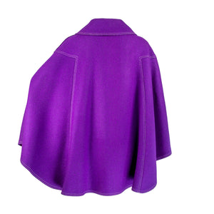 1970s White Stag Purple Wool Cape