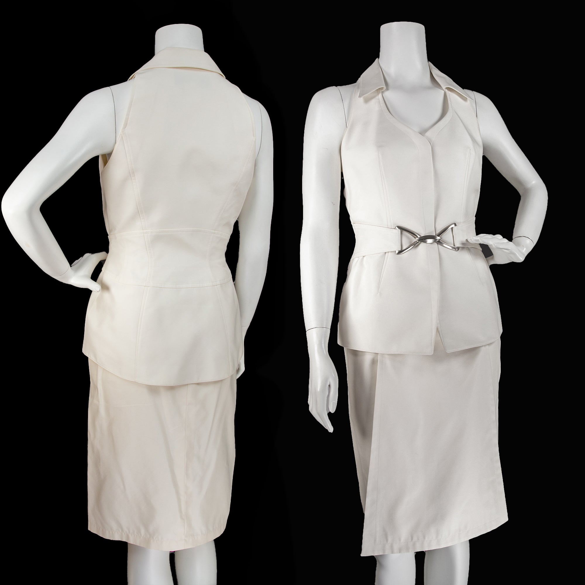 Vintage Thierry Mugler Couture Top  and Skirt Set