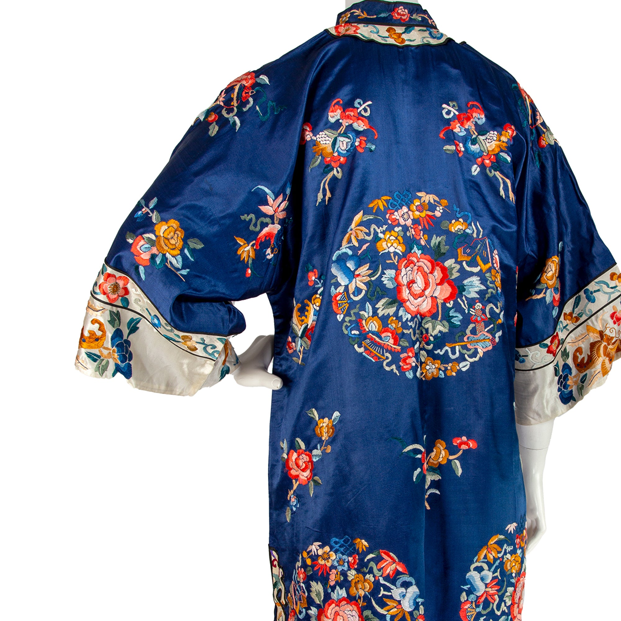 Qing Dynasty Chinese Silk Robe⁠ Early 20th Century