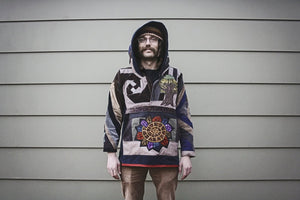 Men's Octopus Patchwork Hoody
