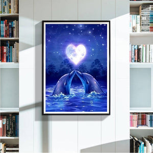 Dolphin Amore 5D fai da te Full Drill Diamante Pittura