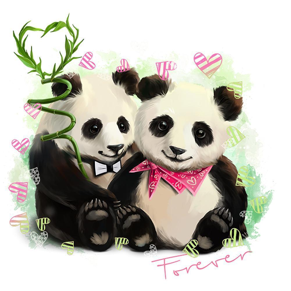 Panda Love 5D fai da te Full Drill Diamante Pittura