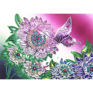 Flower Butterfly 5D fai da te Speciale A forma di diamante Pittura Kit