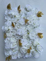 Ivory Classic with Gold Flower Wall - Starlight Flower Walls