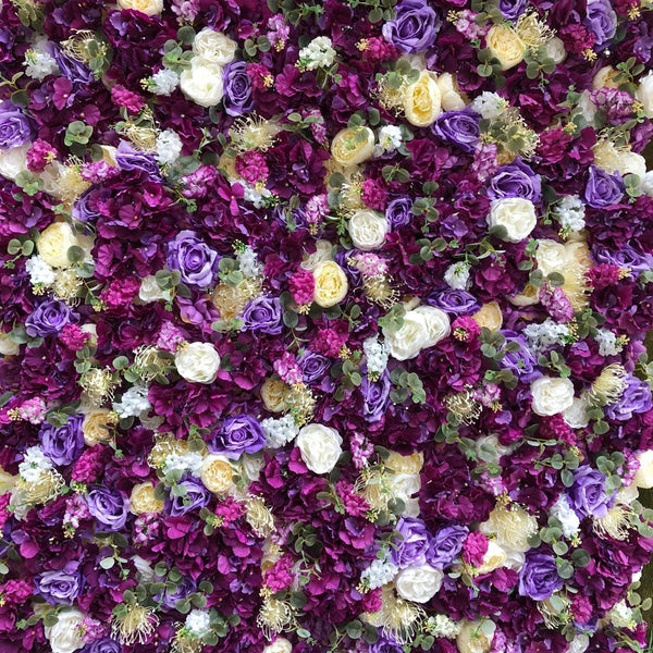 Purple Meadow Flower Wall - Starlight Flower Walls