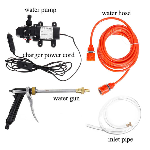 160PSI 12V Household Car Wash Pump 100w portable High Pressure Electric