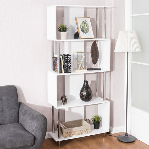 Giantex Industrial Style 4 Shelf Modern Bookcase Living Room Storage Display