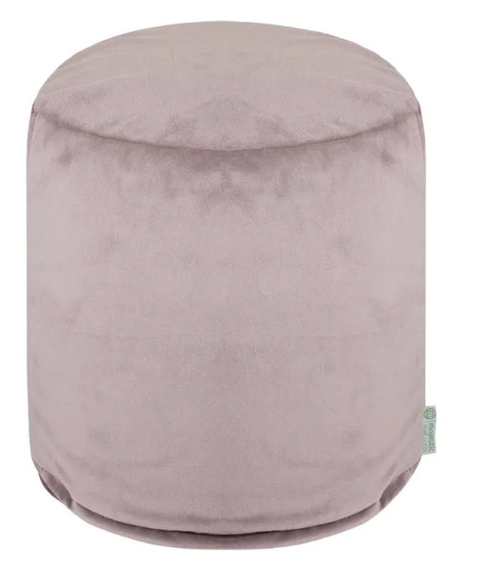 Home Goods Steel Micro-Velvet Small Pouf