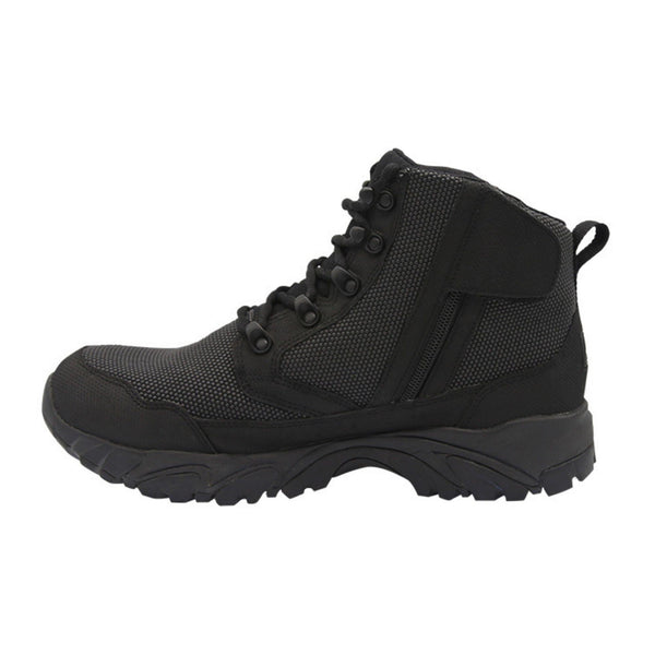"ALTAI® 6"" Black Waterproof Hiking Boots with Zipper - Altai Gear Singapore"