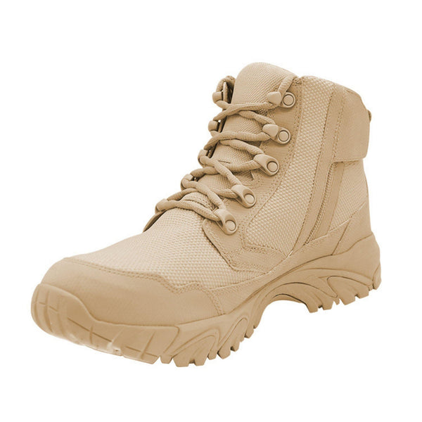"ALTAI® 6"" Tan Waterproof Hiking Boots with Zipper - Altai Gear Singapore"
