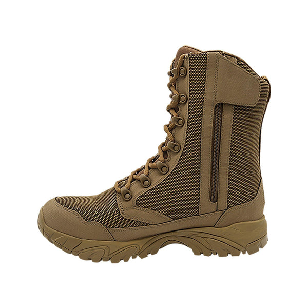 "ALTAI® 8"" Brown Waterproof Motorcycling Boots with Zipper - Altai Gear Singapore"