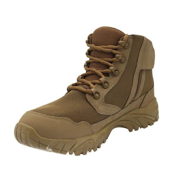 "ALTAI® 6"" Brown Waterproof Hiking Boots with Zipper - Altai Gear Singapore"