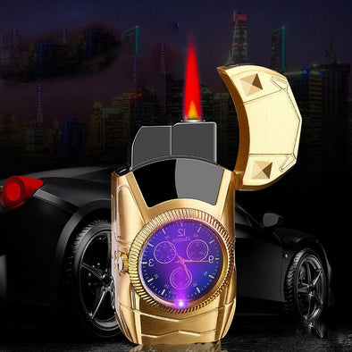 Unusual Lighters Car Shape Watch Gas Lighters Butane Jet Torch /Turbo Lighter Metal Gadgets for Men Smoking Accessories
