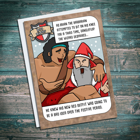 Funny dungeons and dragons Christmas card