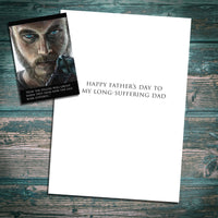 Ragnar Lothbrok Father's day card, Vikings inspired Greetings Card