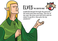 Elves A3 (297 x 420 mm/11.7 x 16.5 inches) Funny Fantasy Geek Wall Print Poster from Hero Master.
