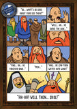 Skol vikings, dressed as nuns, monks and big beards. Funny greetings cards from Raiding Party