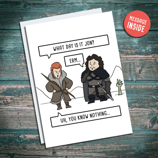 Jon Snow, Ygritte, army of the dead, game of thrones, happy name day