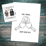 "Game of Thrones inspired Birthday card- ""Happy Name Day"""