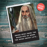 Saruman greetings card. Birthday card. Lord of the rings and the hobbit by JRR Tolkien. Illustration