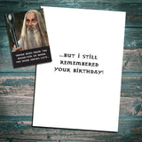 Saruman birthday card, lord of the rings